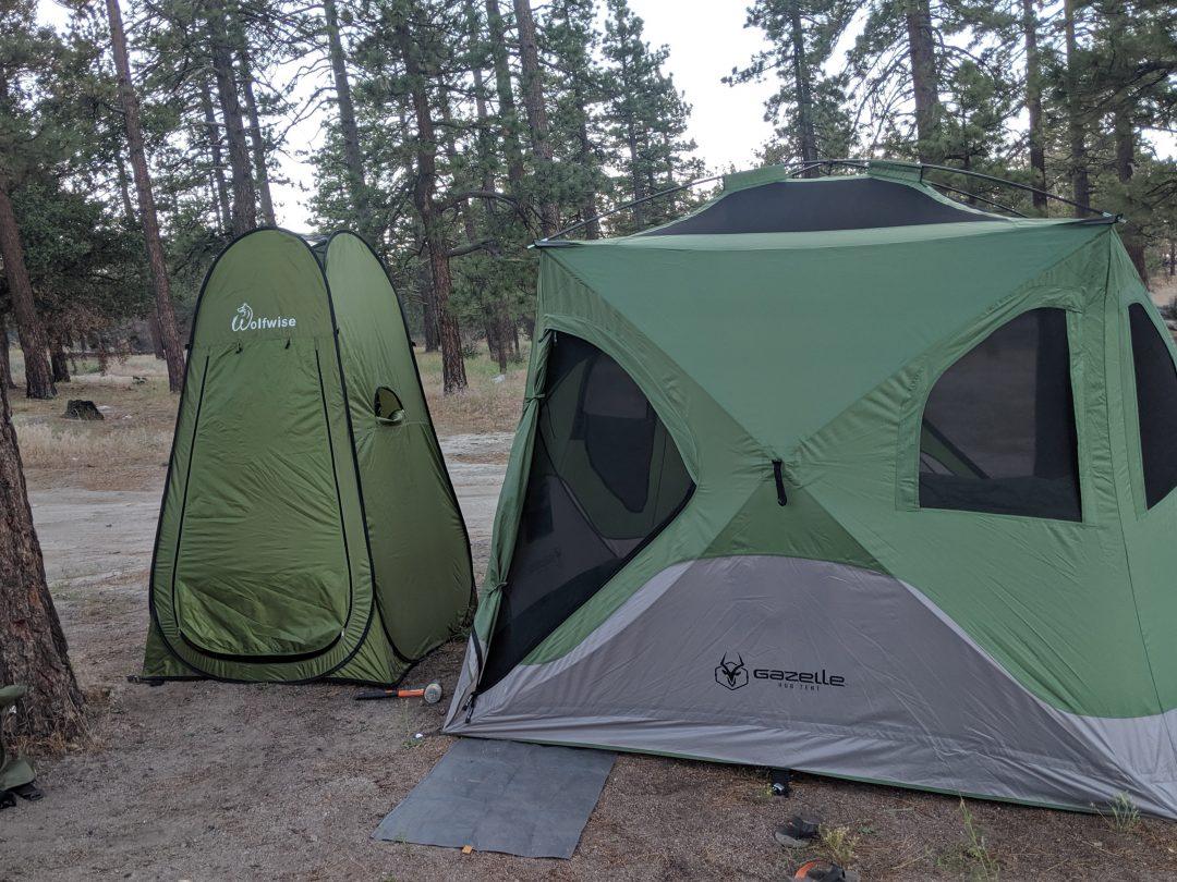 camping bathroom setup